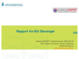 Rapport fra ISG Stavanger