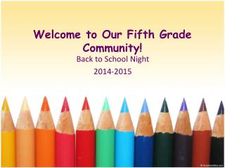 Welcome to Our Fifth Grade Community!