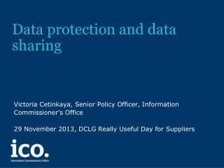 Data protection and data sharing