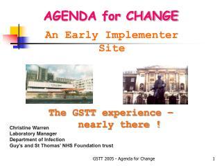 GSTT 2005 - Agenda for Change