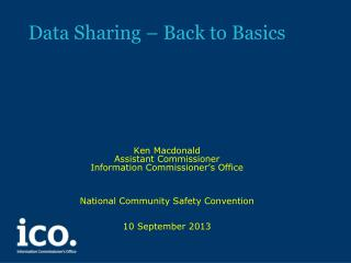 Data Sharing – Back to Basics