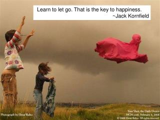 Learn to let go. That is the key to happiness.~Jack Kornfield