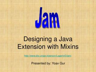 Designing a Java Extension with Mixins
