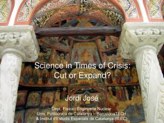 Science in Times of Crisis: Cut or Expand?