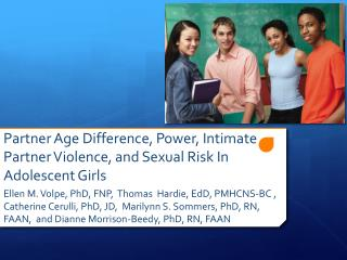 Partner Age Difference, Power, Intimate Partner Violence, and Sexual Risk In Adolescent Girls