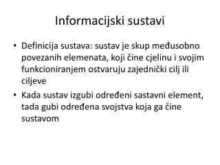 Informacijski sustavi