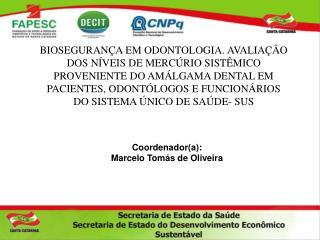 Coordenador(a): Marcelo Tomás de Oliveira