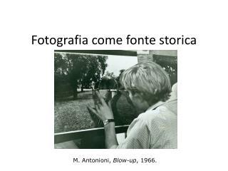 Fotografia come fonte storica