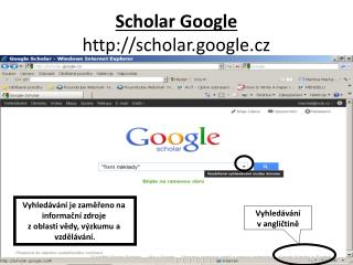 Scholar Google scholar.google.cz