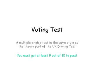Voting Test