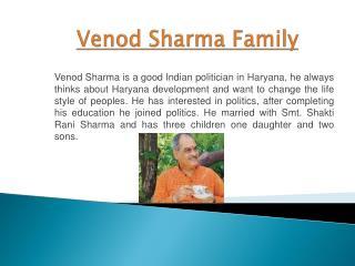 Venod  Sharma Family
