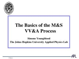 The Basics of the M&S VV&A Process Simone Youngblood