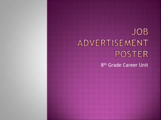 Job Advertisement Poster
