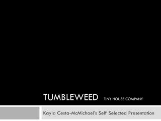TUMBLEWEED   TINY HOUSE COMPANY
