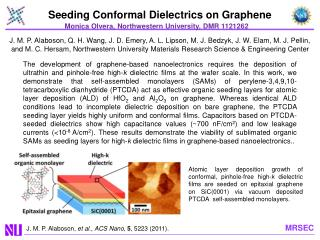 Seeding Conformal Dielectrics on  Graphene