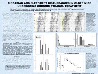 Circadian and sleep/rest disturbances in older mice undergoing chronic ethanol treatment