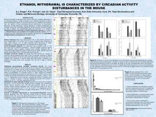 ETHANOL WITHDRAWAL IS CHARACTERIZED BY CIRCADIAN ACTIVITY DISTURBANCES IN THE MOUSE