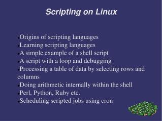 Scripting on Linux