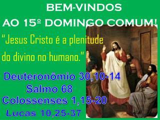 """BEM-VINDOS  AO 15º DOMINGO COMUM! """"Jesus Cristo é a plenitude do divino no humano."""""""
