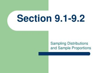 Section 9.1-9.2