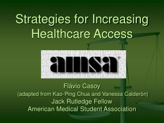 Strategies for Increasing Healthcare Access
