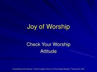 Joy of Worship