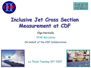 Inclusive Jet Cross Section Measurement at CDF