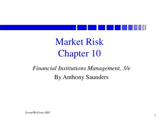 Market Risk Chapter 10