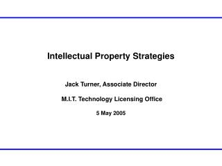 Intellectual Property Strategies