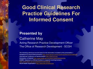 Good Clinical Research Practice Guidelines For Informed Consent