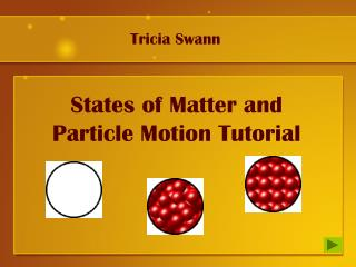 States of Matter and Particle Motion Tutorial