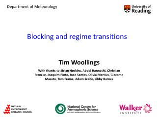 Blocking and regime transitions