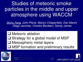 Studies of meteoric smoke particles in the middle and upper atmosphere using WACCM