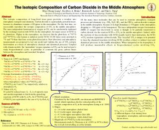 The Isotopic Composition of Carbon Dioxide in the Middle Atmosphere