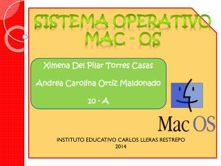 SISTEMA OPERATIVO MAC - OS