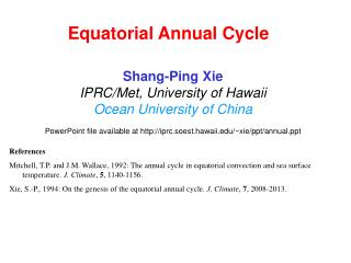 Equatorial Annual Cycle