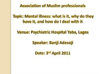 Association  of Muslim professionals