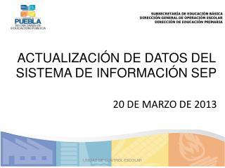 SUBSECRETARÍA  DE EDUCACIÓN BÁSICA DIRECCIÓN GENERAL DE OPERACIÓN ESCOLAR