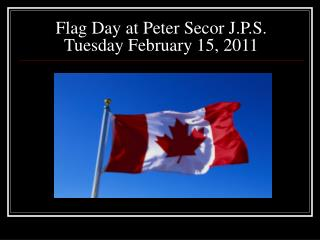 Flag Day at Peter Secor J.P.S. Tuesday February 15, 2011