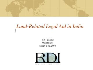 Land-Related Legal Aid in India