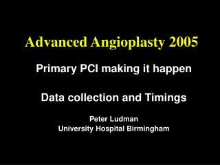 Advanced Angioplasty 2005
