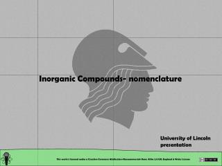 Inorganic Compounds- nomenclature