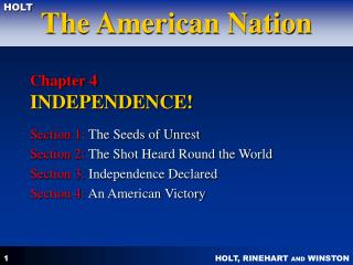 Chapter 4 INDEPENDENCE