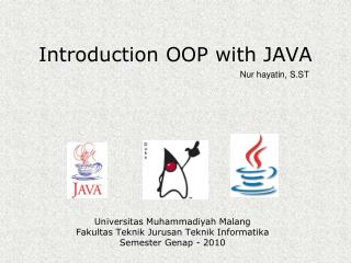 Introduction OOP with JAVA