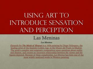 Using Art to Introduce Sensation and Perception