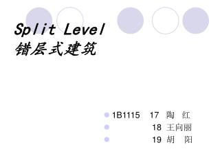 Split Level              ?????
