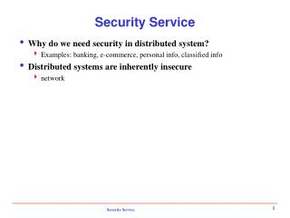 Security Service