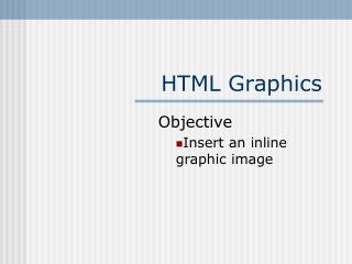 HTML Graphics