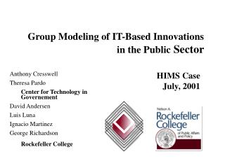 Group Modeling of IT?Based Innovations in the Public  Sector