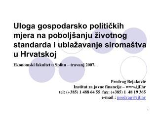 Predrag Bejaković Institut za javne f inanc ij e  – ijf.hr